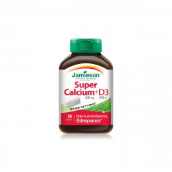 JAMIESON 7568 SUPER CALCIU 650MG + VITAMINA D3 400UI X 30CPS image