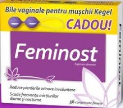 ZDROVIT FEMINOST 56CPR FILMATE + BILE PT EXERCITII KEGEL CADOU image