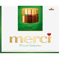 Bomboane de ciocolata asortate Merci verde, 250 gr. image