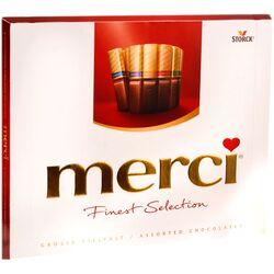 Bomboane de ciocolata asortate Merci rosu, 250 gr. image