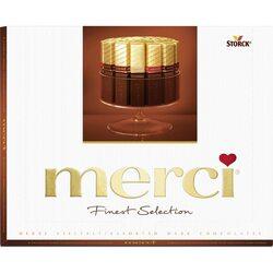 Bomboane de ciocolata asortate Merci dark, 250 gr. image