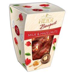 Praline din ciocolată Heidi Bouquet lapte cu alune de pădure caramelizate 155 gr. image