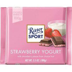 Ciocolata Ritter cu capsuni si iaurt, 100g image
