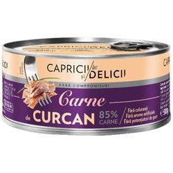 Carne de curcan in suc propriu Capricii si Delicii, 300g image
