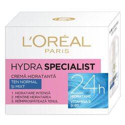 Crema hidratanta pentru fata L`Oreal Paris Hydra Specialist pentru ten normal si mixt, 50 ml image