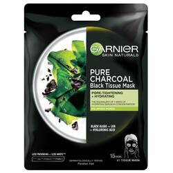 Masca servetel Garnier Skin Naturals Pure Charcoal cu alge negre, 28 g image