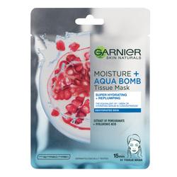 Masca servetel Garnier Moisture + Aqua Bomb cu rodie, 32 g image