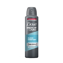 Deodorant antiperspirant spray Dove Clean Comfort pentru barbati, 150 ml image