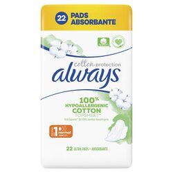 Absorbante Always Cotton Protection Ultra, 22 buc image