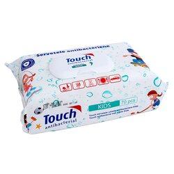 Servetele Umede Antibacteriene Touch Kids, 70 buc image