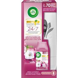 Odorizant de camera Air Wick Freshmatic Essential Oils + rezerva Smooth Satin & Moon Lily 250 ml image
