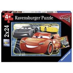 Puzzle Ravensburger - Disney Cars 3, Pot sa castig!, 2 in 1, 2x24 piese image
