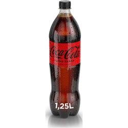 Bautura Carbogazoasa Coca-Cola, Zero Zahar, Pet, 1.25l image
