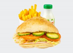 Sandwich cu sunca si cascaval meniu image