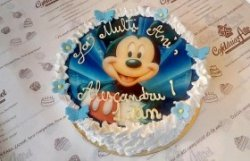 "Tort ""Mickey"" blue image"