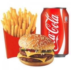 Meniu Dublu cheeseburger pui image