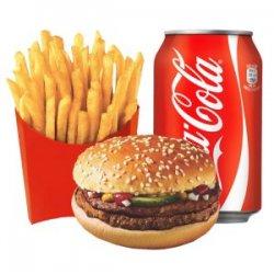 Meniu Dublu burger pui image