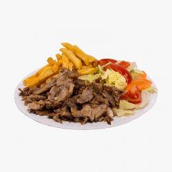 Platou Kebab de vită cu cartofi prăjiți image