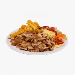 Platou Kebab de pui cu cartofi  image