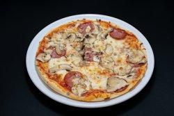 Pizza Salame e Funghi Familiare image