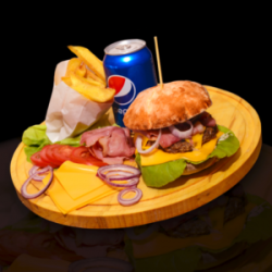 Burger simplu image