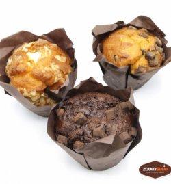Muffin cu dulceață black cherry image
